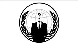 Logo grup peretas Anonymous