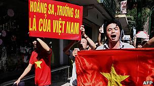Warga Vietnam melakukan protes atas Cina terkait perbatasan