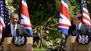 Barack Obama bersama David Cameron